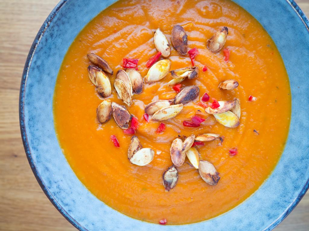 Opskrift på Hjemmelavet Spicy Hokkaidosuppe