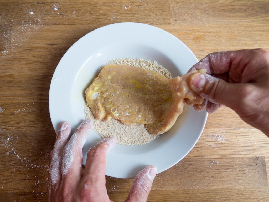 Opskrift på hjemmelavet Schnitzel
