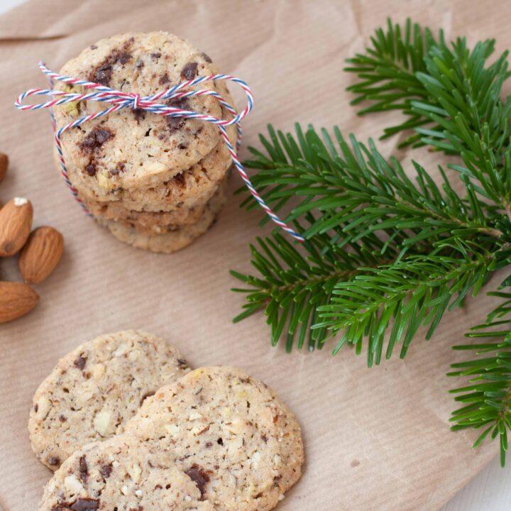 Småkager med Nødder og Chokolade