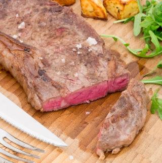 Opskrift på hjemmelavet Højrebs steak i sous vide