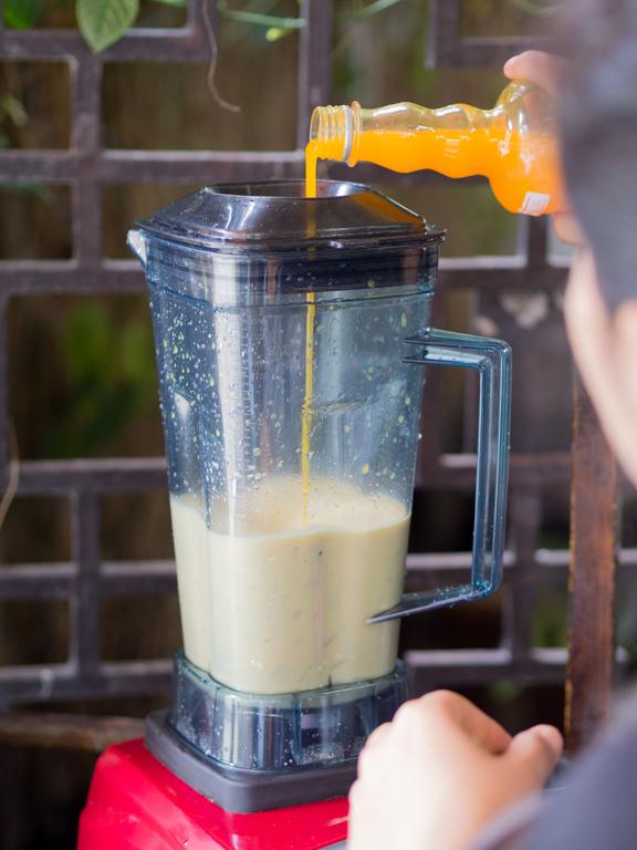 Opskrift på mango, passionsfrugt og kokosshake