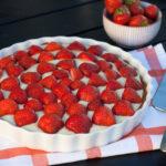 Opskrift på Jordbærtærte (Hjemmelavet jordbærtærte)