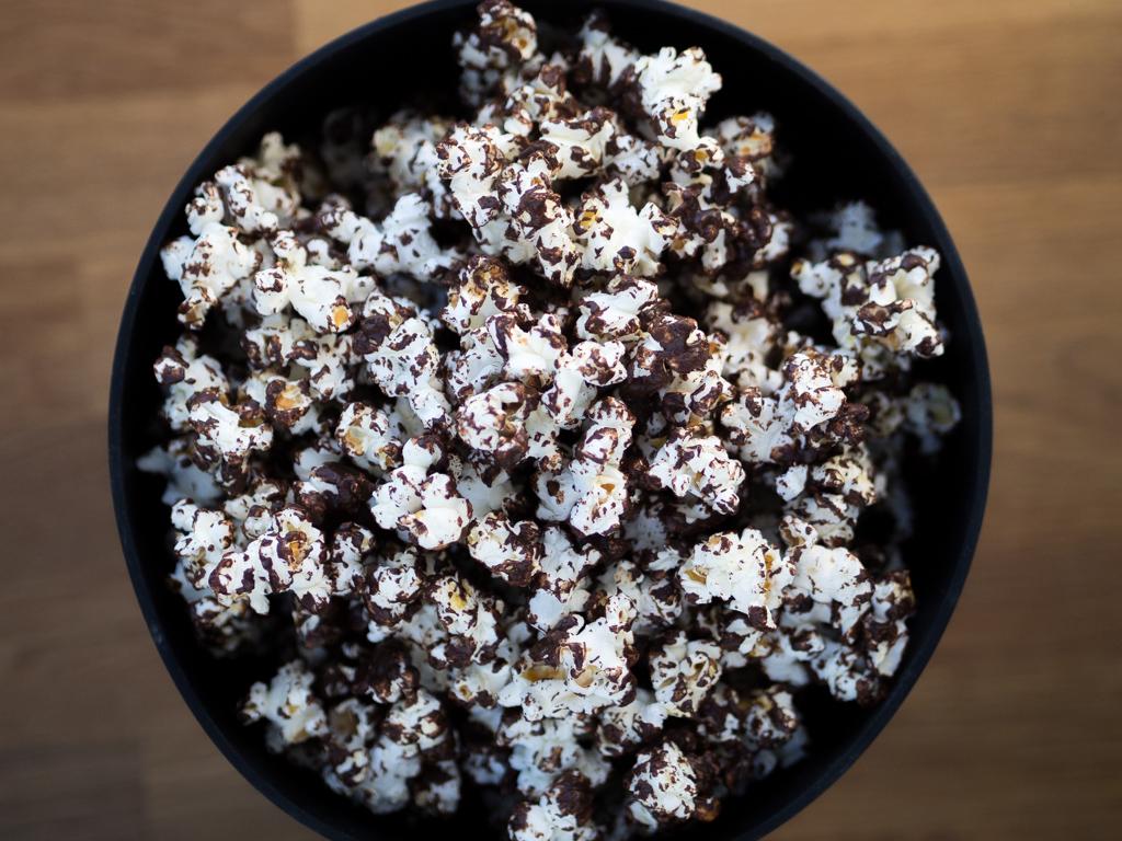 Opskrift på popcorn med chokolade
