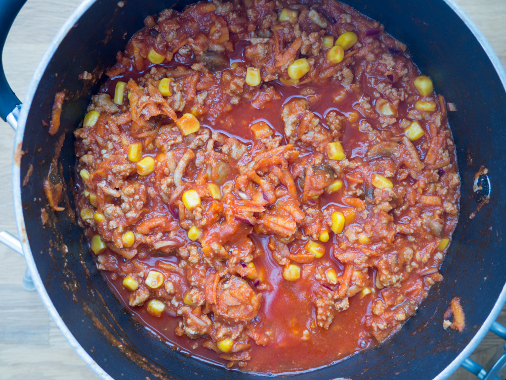 Opskrift på fyldte pandekager med chili og oksekød