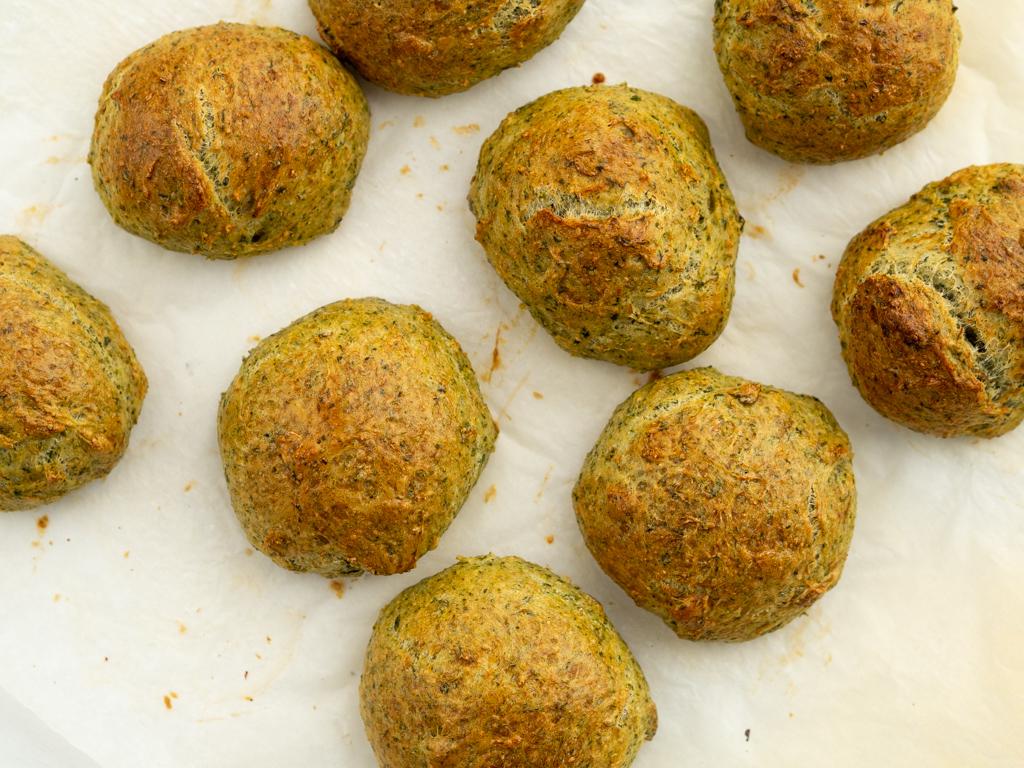 Opskrift på vegetariske spinatboller
