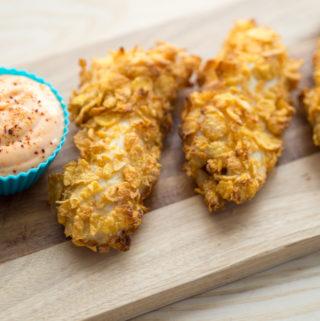 Nem opskrift på Kylling med cornflakes